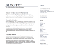 Blog.txt for WordPress