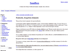 Sandbox for WordPress