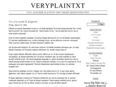 Veryplaintxt for WordPress